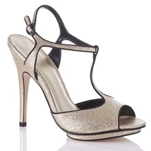 Gold/Black Lucy Sandals 13cm Heel