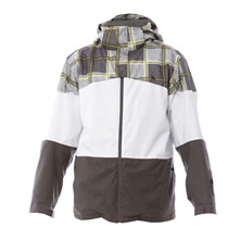 Veste de ski Rueun gris et blanc
