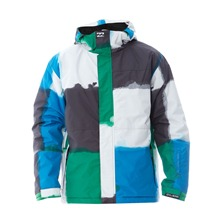 Veste de ski Tweak verte, blanche et bleu