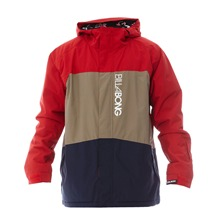 Veste de ski Bolt rouge, beige et bleu marine