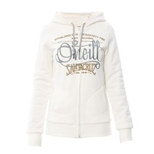 Sweat  capuche Colma zipp blanc cass