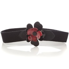 Black Flower Elasticated Belt