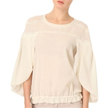 Cream Ruched Top