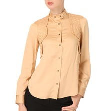 Peach Quilted Shirt