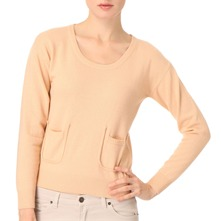 Peach Wool/Cashmere Knitted Top