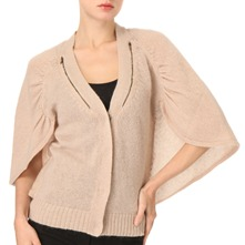 Nude Caped Cardigan
