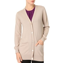 Nude Wool Cardigan