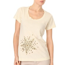 Cream Embellished Star T-Shirt