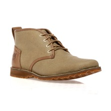 Men footwear: Grey/Brown EK Canvas Boots