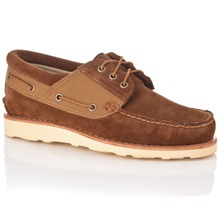 Men footwear: Brown Abington Suede Boat Shoes