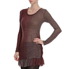 Wine Wool Blend Faded Tunic
