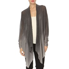 Grey Waterfall Dip-Dye Cardigan