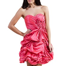 Red Antonia Taffeta Prom Dress