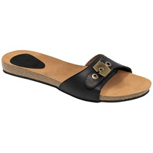 Black New Bahama Leather Mules