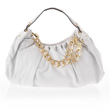 White All Nighter Leather Top Handle Bag