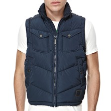 Navy Pacific Padded Gilet