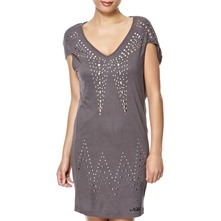 Charcoal Twisted Embellished Dress