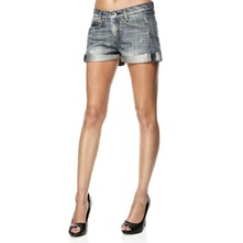 Blue Corduane Denim Shorts