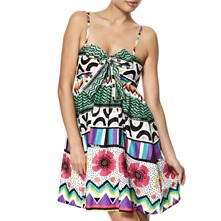 Green/Multi Futurepop Dress