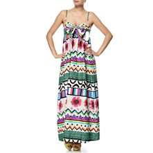 Green/Multi Futurepop Maxi Dress