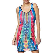 Black/Multi Musik Digital Print Dress