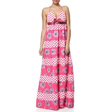 Pink Kurios Mixed Print Maxi Dress