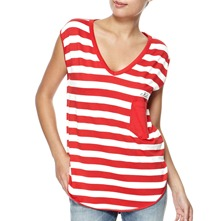 Red/White Soho Stripe Top