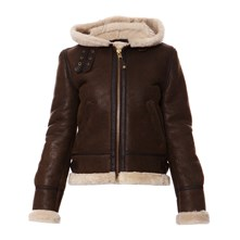 Bomber in pelle - marrone