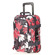 Valise trolley Roll with me gris et rose