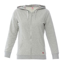 Sweat zipp  capuche  gris chin