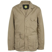 Beige Cotton Poacher Jacket