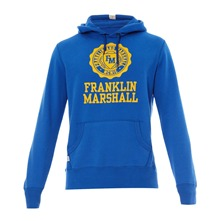 Sweat à capuche bleu