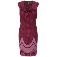 Pink Carnival Tie Neck Dress