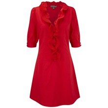 Red Francesca Shirt Dress