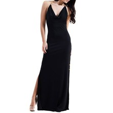 Black Muse T-Bar Chain Maxi Dress