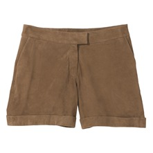 Short en daim naturel