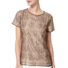 Gold Finess Lace T-Shirt
