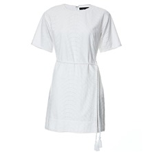 White Cotton Broderie Anglaise Dress
