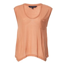 Orange Handkerchief Hem Top