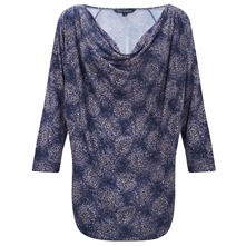 Lavender Printed Cowl Neck Top