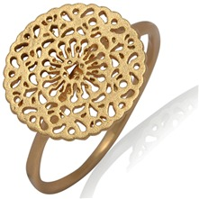 Gold Round Filigree Ring