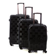 Set de 3 valises Chrome 50/60/70cm noires