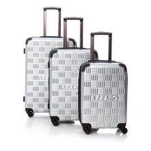 Set de 3 valises Chrome 50/60/70cm argent