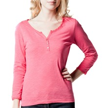 Pink Button Trim Cotton Top