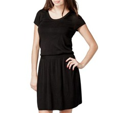 Black V Back Jersey Dress