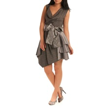 Grey Layer Tiered Dress