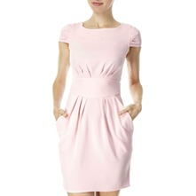 Light Pink Pleated Waist Dress