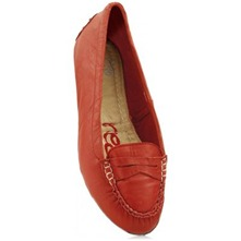 Red Diana Leather Loafers