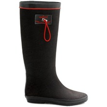 Black Textile Folding Rainboots