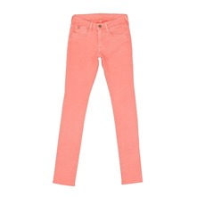 Pantalon slim Basic rose